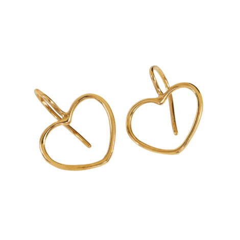 Hook Earrings With Gold Wire Heart