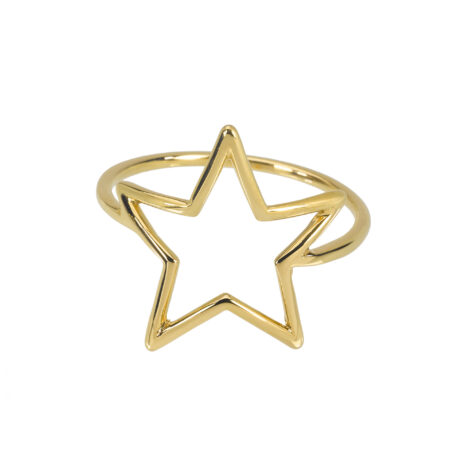 Flat Wire Star Ring