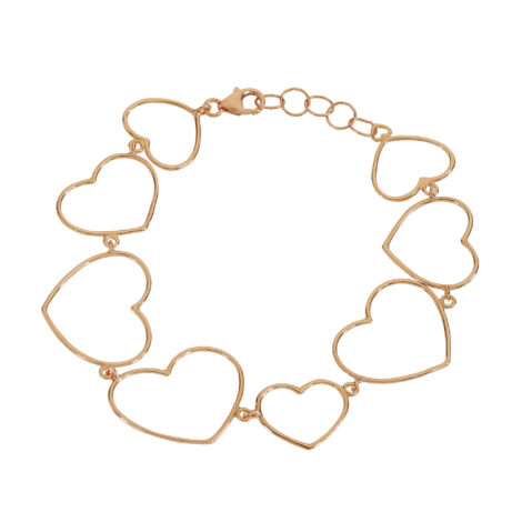 All Hearts Thin Wire Bracelet