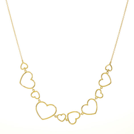 Different Wire Hearts Choker