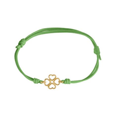 Four-leaf Clovers Cord Bracelet