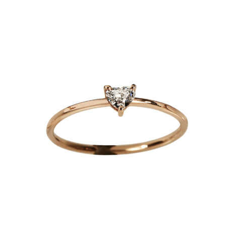 Heart-shaped Diamond Ring, Ct. 0,20