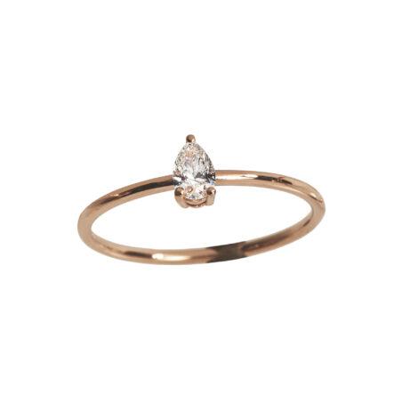 Teardrop Diamond Ring, Ct. 0,20
