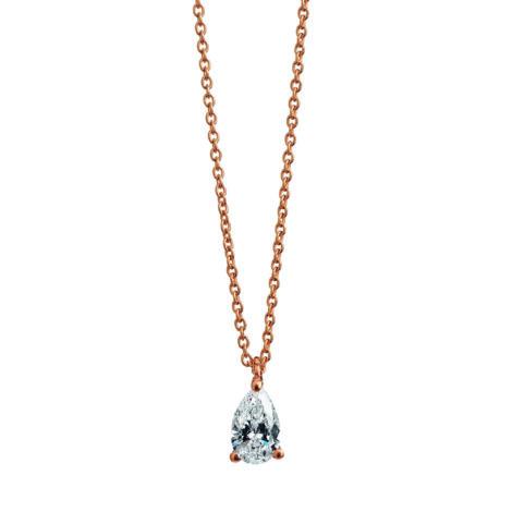Teardrop Diamond Necklace, Ct. 0,20
