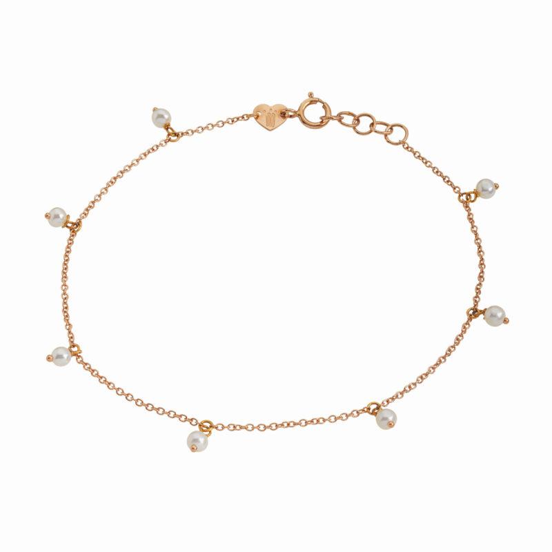 Bracciale a catena con perline pendenti