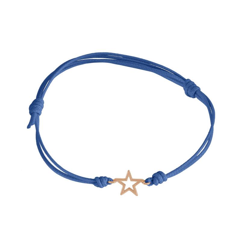 Bracciale cordino con stella a filo