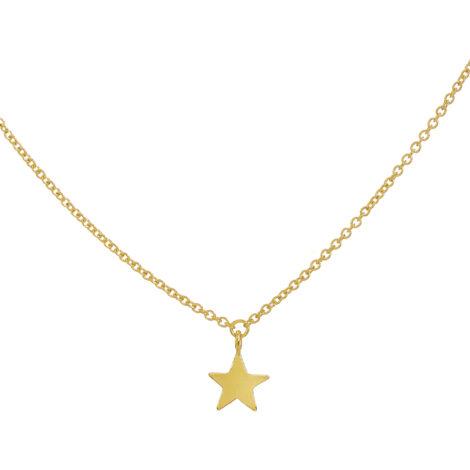 Collana Con Stellina A Lastra Pendente – Oro Giallo 18k