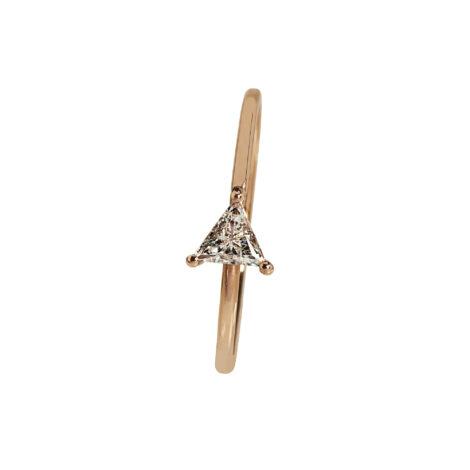 Triangular Diamond Ring, Ct. 0,20